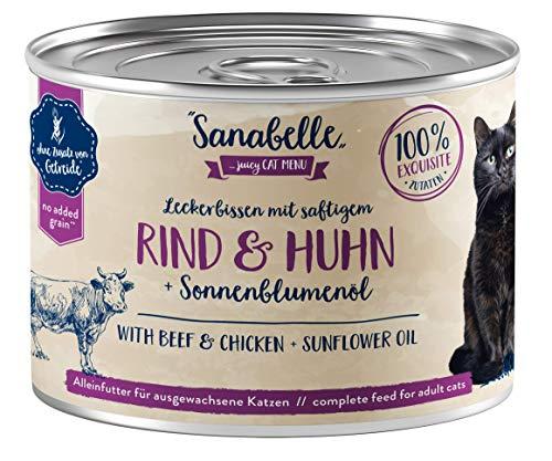 Sanabelle Nassfutter Leckerbissen mit Rind & Huhn, 6 x 195 g, 1.170 Kg