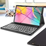 Wineecy Galaxy Tab A 10.1 2019 Keyboard Case(SM-T510/T515, 2019 Version), 7 Color Backlit Detachable Wireless with Folio Case Cover for Samsung Galaxy Tab A 10.1 Inch 2019, SM-T510 SM-T515, Black