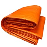6' x 24' Concrete Curing Blanket - 3/16' Thick Closed Cell PE Coated Foam Core - Ultra Strong 8x8 Woven Poly Tarpaulin - Orange - Resistant to UV, Water, and Tears