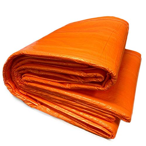 6' x 24' Concrete Curing Blanket - 3/16' Thick Closed Cell PE Coated Foam Core - Ultra Strong 8x8 Woven Poly Tarpaulin - Orange - Resistant to UV, Water, Tears, Mold & Mildew
