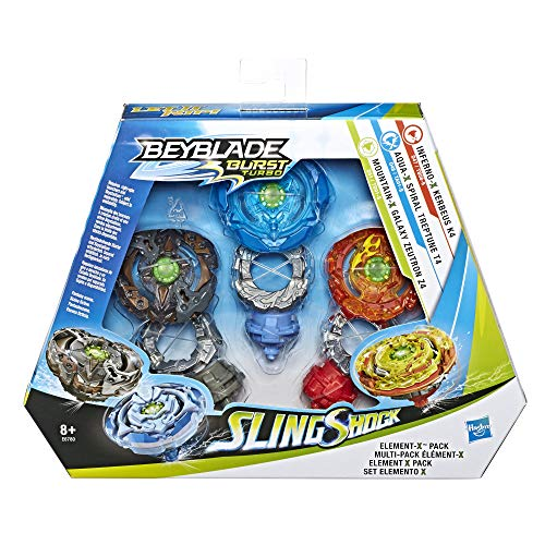 Beyblade Burst Turbo Sling Shock Triple Threat Element-X Pack with...