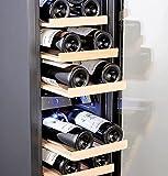 Kalamera Weinkühlschrank 2 Zonen für 19 Flaschen,Kompressor,65 Liter,Temperaturzonen 5-10°C/10-18°C,Edelstahl Glastür,KRC-75BSS - 6