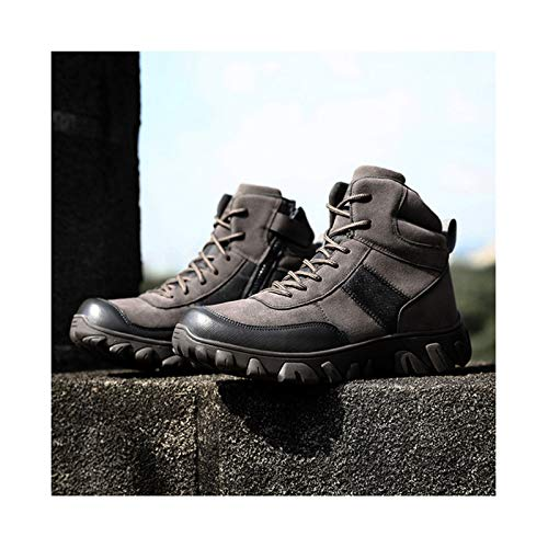 Military Combat Boot ,Men Army Hunting Trekking Winter Work Shoes Tactical Boots, Camping Mountaineering Shoe,Grey-45