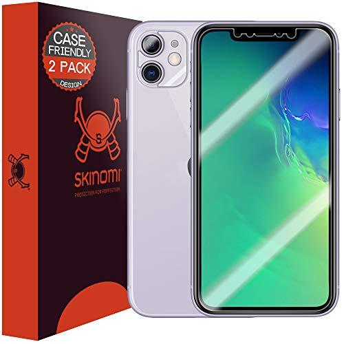 Skinomi TechSkin - Schutzfolie geeignet für iPhone 11, hüllenkompatibel, deckt den Bildschirm, 2er Pack