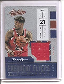 Jimmy Butler Chicago Bulls 2016-17 Panini Absolute Frequent Flyers Club Members Jersey Basketball Card #137/149
