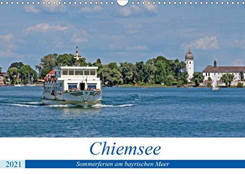 Chiemsee - Sommerferien am bayrischen Meer (Wandkalender 2021 DIN A3 quer)