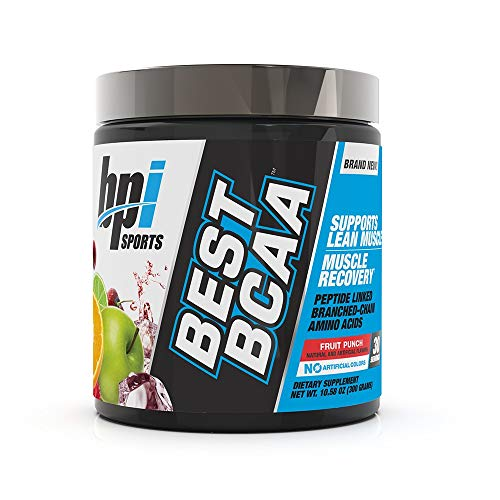 BPI Sports Best BCAA - BCAA Powder - Branched Chain Amino Acids - Muscle Recovery - Muscle Protein Synthesis - Lean Muscle - Improved Performance - Hydration - Fruit Punch - 30 Servings - 10.58 oz.