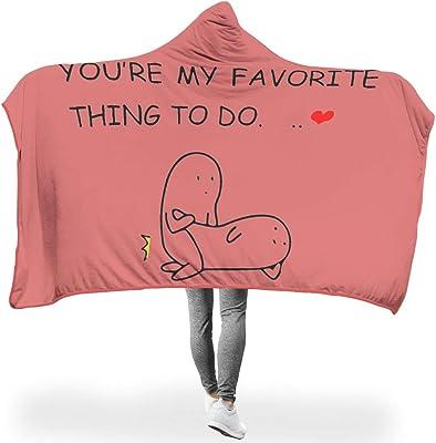 SKの88 あなたは私の好きなことです 着る 二枚合わせ毛布 おしゃれ - 面白い恋人ギフト 設計, 柔軟軽量 に使用 ベッド 洗濯可能 2つのサイズ 连帽毯 white 50x60 inch