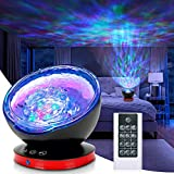 Ocean Wave Projector,12LED Night Light Lamp with Adjustable...
