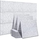 Akustikplatten 24 Stücke, Ohuhu Schallabsorber Schallschutzplatten 30,5 x 30,5 x 1 cm schallabsorbierende Paneele, hohe Dichte abgeschrägte Kante Sound Paneele für...