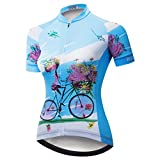 weimostar Maillot de ciclismo de las Mujeres de la Bicicleta de Montaña Jersey Camisetas de manga Corta de la Carretera de la Bicicleta, Mujer, 18 (Reino Unido), M
