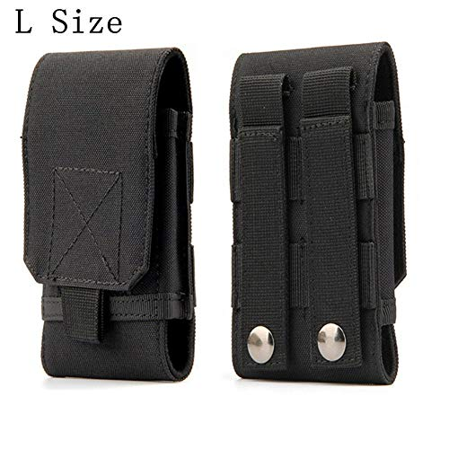 Universal Tactical MOLLE Holster Army Mobile Phone Belt Pouch EDC Security Pack Carry Accessory Kit Waist Bag Case Compatible iPhone 11 Pro X XS Max XR 7 8 6/6s Plus Samsung Galaxy S10 S9 S8 Plus
