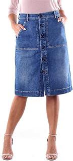 Jacob Cohen Luxury Fashion Donna OLGA01420W2BLUJEANS Blu Cotone Gonna | Stagione Outlet