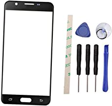 Draxlgon Outer Screen Front Glass Lens Replacement For Galaxy J7 Prime2 Prime 2 2018 G611M/DS / On7 Prime 2018 G611 G611S G611L G611K SM-G611F SM-G611F/DD G611FF/DS (Not LCD and Not digitizer) (black)