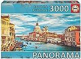 Educa Serie Panorama. Gran canal de Venecia. Puzzle panorámico de 3000 piezas. Ref. 19053, multicolor