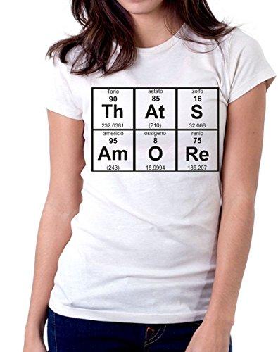 t-Shirt L'Amore è Chimica tavola Periodica That's Amore Simpatica Uomo Donna S M L XL XXL Maglietta by tshirteria