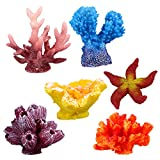 ueetek 6pcs aquarium ornament decoration artificial coral plant per fish tank decorative aquarium
