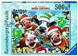 Ravensburger Feliz Navidad! Puzzle 500 Pz, Puzzle para adultos
