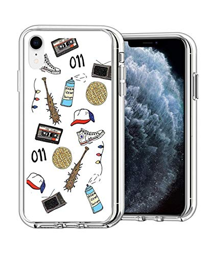 ChefzBes Pure Clear Anti-Scratch Motion for iPhone XR Cover Stranger Art Sticker Things