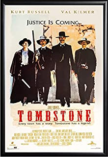 Tombstone Movie Poster US Version Framed (Black) Size 24x36