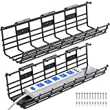 Under Desk Cable Management Tray, 2 Pack...