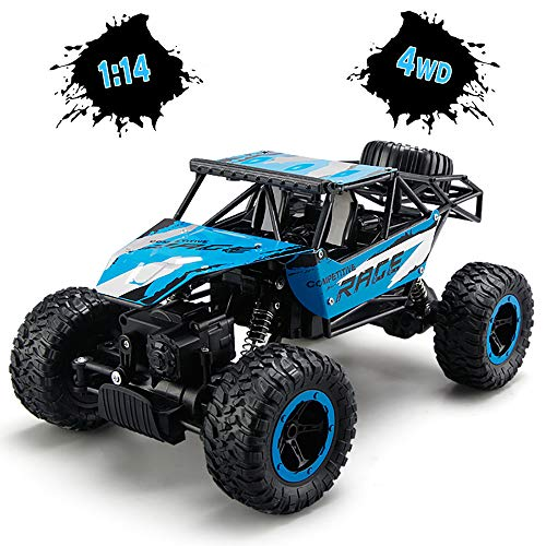 TOYEN Remote Control Car, RC Rock Off-Road Vehicle 2.4Ghz 4WD Fast Speed Racing Cars for Indoor/Outdoor