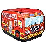 freneci Jouer Tente Maison Drôle Up Camion Intérieur Jardin Extérieur - Camion de Pompier