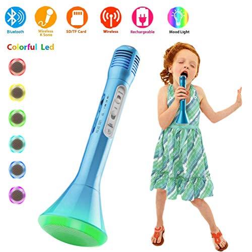 Yissma Bluetooth karaoke, draagbare draadloze handmicrofoon luidspreker speler draadloze microfoon, microfoon kinderen voor KTV muziek zingen spelen