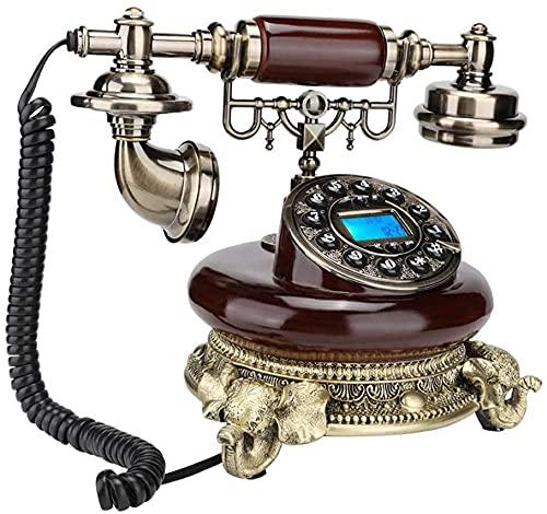 MUZIDP Teléfonos Decorativos Antiguos Identificación de la Llamada de la telefonía de la Oficina de la Oficina de la Oficina del Viejo