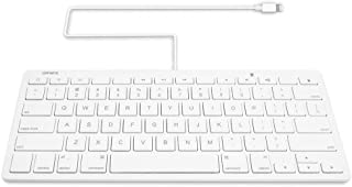 Omars MFI Certified iPad Plug-n-Go Wired Keyboard with 8-pin Lightning Connector Compatible with Apple iPhone, iPad, or iPod Touch, Great for PARCC and Smarter Balanced Tests