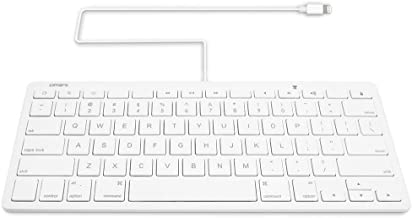 Portable Bluetooth Keyboard for the iPhone with Integrated Apple Commands Type Runner Keyboard for Apple iPhone 4 Silver White BoxWave Wireless Bluetooth Keyboard