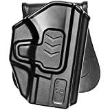 XDS Holster, OWB Paddle Holster for Springfield XDS 3.3' 9mm/.40 S&W/.45 ACP Outside Waistband Concealed Carry Springfield Holster XD-S Accessories Gun Holster for Men/Women