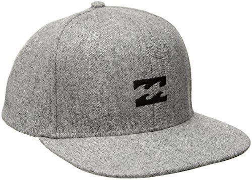 Billabong Mens All Day Heather Snapback Hat, Grey, One Size