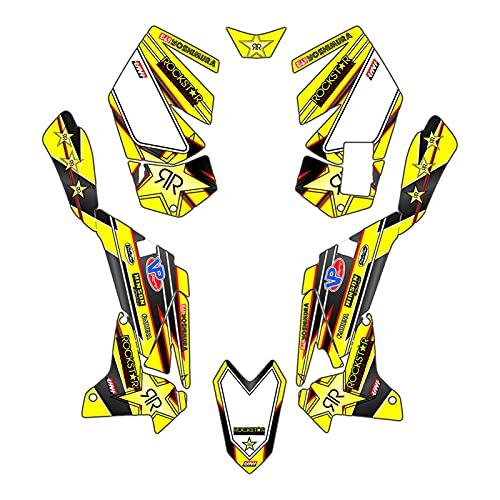 Protections Réservoir Moto Autocollant Complet pour Suzuki LTR450 LTR 450 2006-2014 2007 2008 2009 2010 2011 2012-2014 décalcomanies d'équipe Autocollants Kit déco Graphique