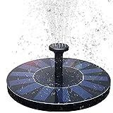 BAONUOR Solar Springbrunnen, Solar Teichpumpe mit 6 Effekte Solar Wasserpumpe Solar schwimmender Fontäne Pumpe für Gartenteich Oder Springbrunnen Vogel-Bad...