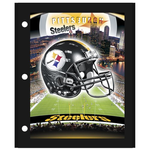 BRAX Unisex-Erwachsene NFL Pittsburgh Steelers 3D Portfolio, schwarz, 8