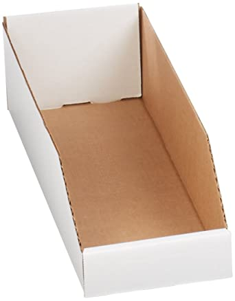 Case of 25 18 Length x 10 Width x 4-1//2 Height Aviditi BINEB1810 Corrugated Open Top Bin Box Oyster White