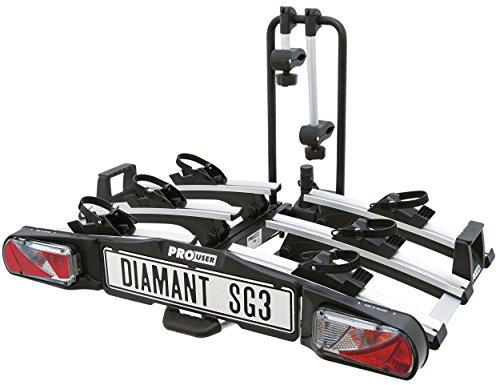 Pro User 5191735sintética Bicycle-Rack Diamant SG3, Negro