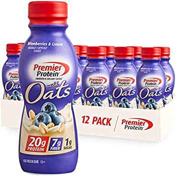 12-Pack Premier Blueberries & Cream Protein Shake with Oats