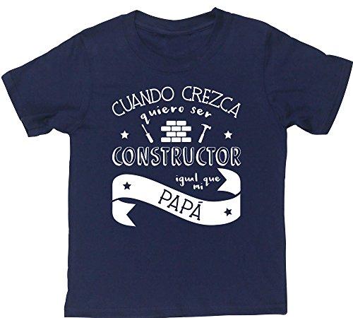 HippoWarehouse Cuando Crezca Quiero Ser Constructor Igual Que Mi Papá camiseta manga corta niños niñas unisex