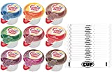 Coffee Mate .375oz Non-Dairy Liquid Creamer Singles - 9 Flavor Assortment, Hazelnut, French Vanilla, Original, Mocha, Salted Caramel 36 Count (Pack of 1) - With By The Cup Sugar Packets