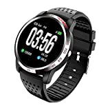 NiceFuse Smart Watch, Fitness Tracker Sport Watch with Heart Rate Blood Oxygen Monitor, Multiple Sport Modes, Waterproof Activity Tracker Smartwatches with Sleep Monitor (TPU Black MIH)