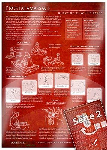 Anal- und Prostatamassage - Kurzanleitung (2017) - Massage-Techniken für die Tantramassage und mehr Genuss beim Sex: Ideal für die erotische Massage - ... für den Mann [DIN A4 - zweiseitig, laminiert]