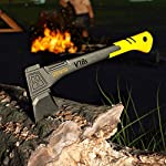 LEXIVON V18s Splitting Axe, 18-Inch Lightweight Fiber-glass Composite Handle & Ergonomic TPR Grip | Protective Carrying… 12 INNOVATIVE DESIGN - Fully encased over-molded blade. Hi-Tech fiberglass composite injected handle, featuring reinforced back spine & non-slip TPR grip. DURABLE - Drop-forged & heat-treated Grade A High-Carbon steel, meticulously hardened cutting edges provides a deeper and cleaner contact. SPLITTING - Wedge-shaped blade profile gives efficient one-strike splits. Perfect for splitting small to medium-sized fireplace logs & kindling.