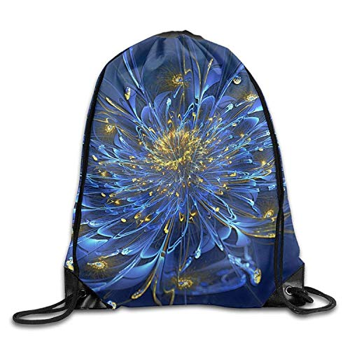 NA Gym Drawstring Bags 3D Flower Water Draw Rope Travel Backpack Tote Student Camping