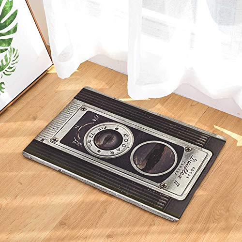 OPLJ Personalidad Cámara Retro Cinta Digital Alfombrilla de Puerta Alfombra de Suelo Interior Alfombra de Puerta Antideslizante Alfombra Lavable A6 50x80cm