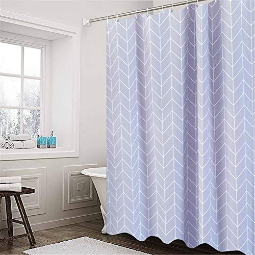 Cortina de ducha, cortina de ducha decorativa, moderna Peva con impresión simple a cuadros, lavable e impermeable para baño, a cuadros oblicuos, 1,8 x 1,8 m