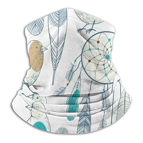 Atrapasueños y pájaros bufandas cálidas unisex pañuelos para la cabeza gorros multifuncionales para toallas faciales elásticas bufandas lavables