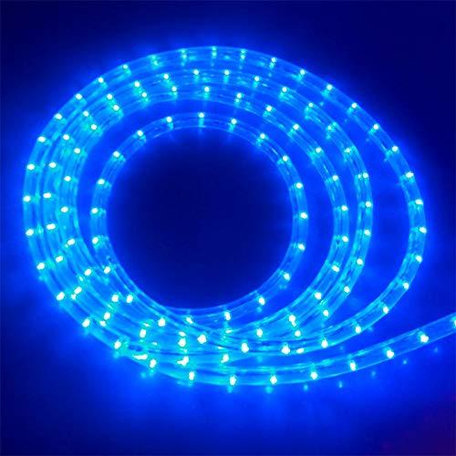 4 m LED Lichtschlauch BLAU mit Prismeneffekt Ø 13mm