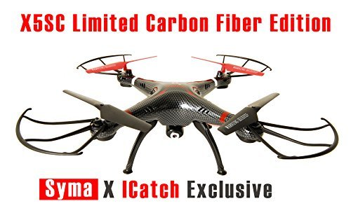 Syma X5SC-CE Explorers 2 Carbon Fiber Quadcopter Drone HD Camera w/ 2 batteries (Double the Flight Time)